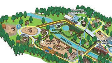 partial view of ZooAmerica map